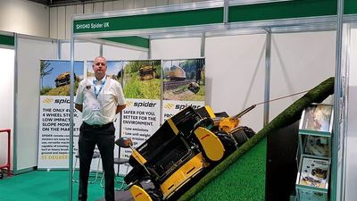 Spider slope mower safety showcased at Health & Safety event
