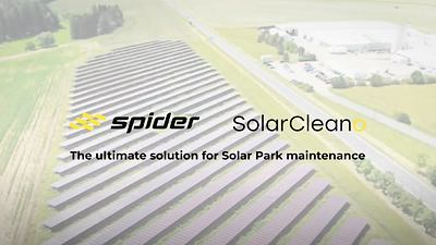 SPIDER mowers & SolarCleano: Ultimate maintenance of Solar Farms