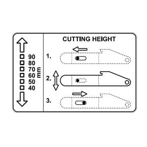 Label MINI - Cutting height