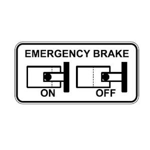 Label MINI - Emergency brake