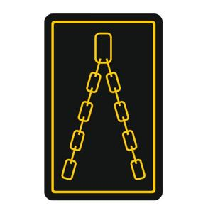Sticker for chain position ILD02 - transparent