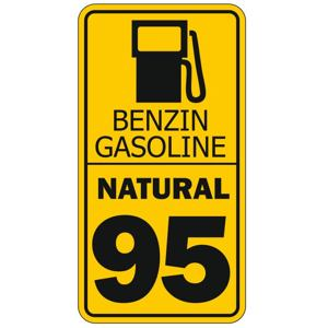 Sticker warning gasoline tank