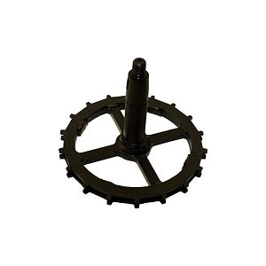 Wheel axle with sprocket